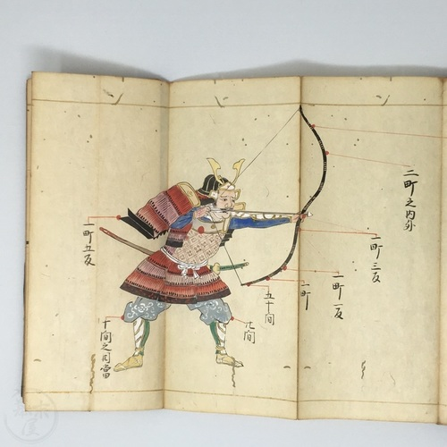 Fascinating handwritten manuscript on shooting Targets to hit on animals, samurai, insects, grass and even clouds!