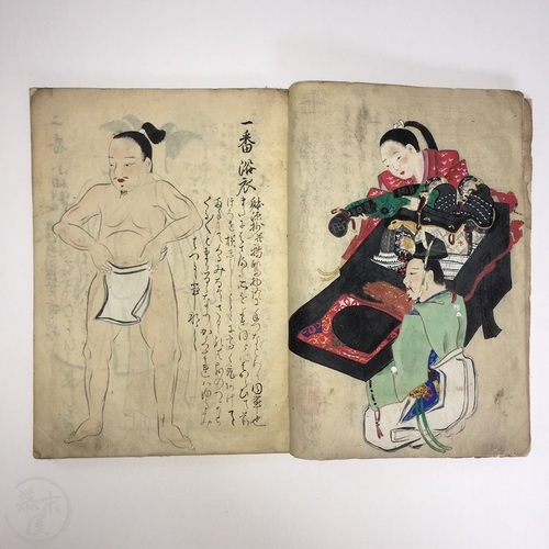 Manuscript on How to Wear Samurai Yoroi Copied by Kano Jiro, Fujiwara Nobuyuki
