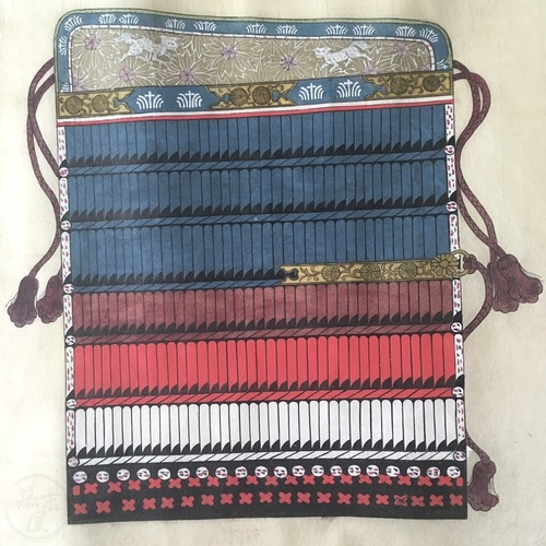 Stunning Unmounted Scroll of Samurai Armour Yoroi Odoshige Original by Arai Hakuseki
