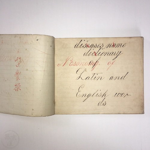 Two Manuscript Books - Nosonomy and Gynaecology handwritten by a Japanese doctor