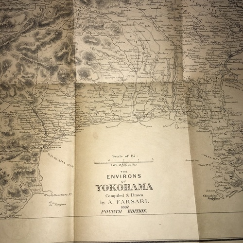 Map of The Environs of Yokohama Compiled and Drawn by A. Farsari