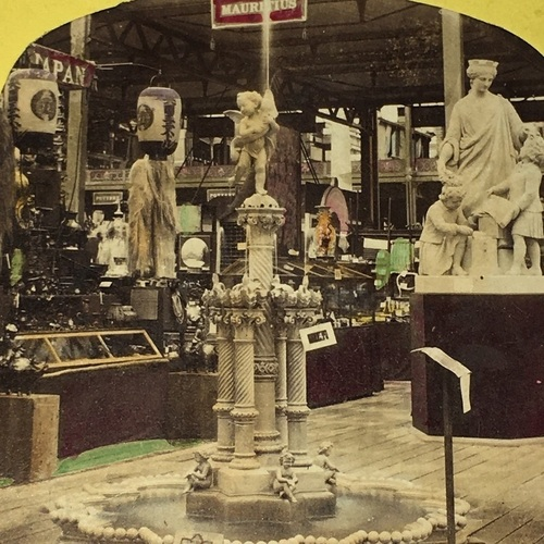 Stereo Photo of the Japan Booth at the International Exhibition of 1862 London Stereoscopic and Photographic Company